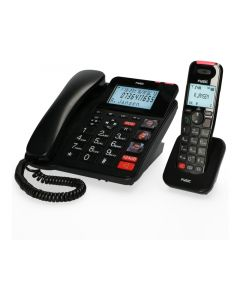FX-8025 Fysic Big Button Bureautelefoon + Antwoordapparaat + DECT Black